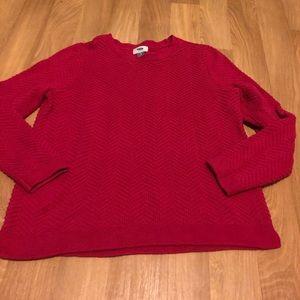 Old Navy Pink Chevron Sweater